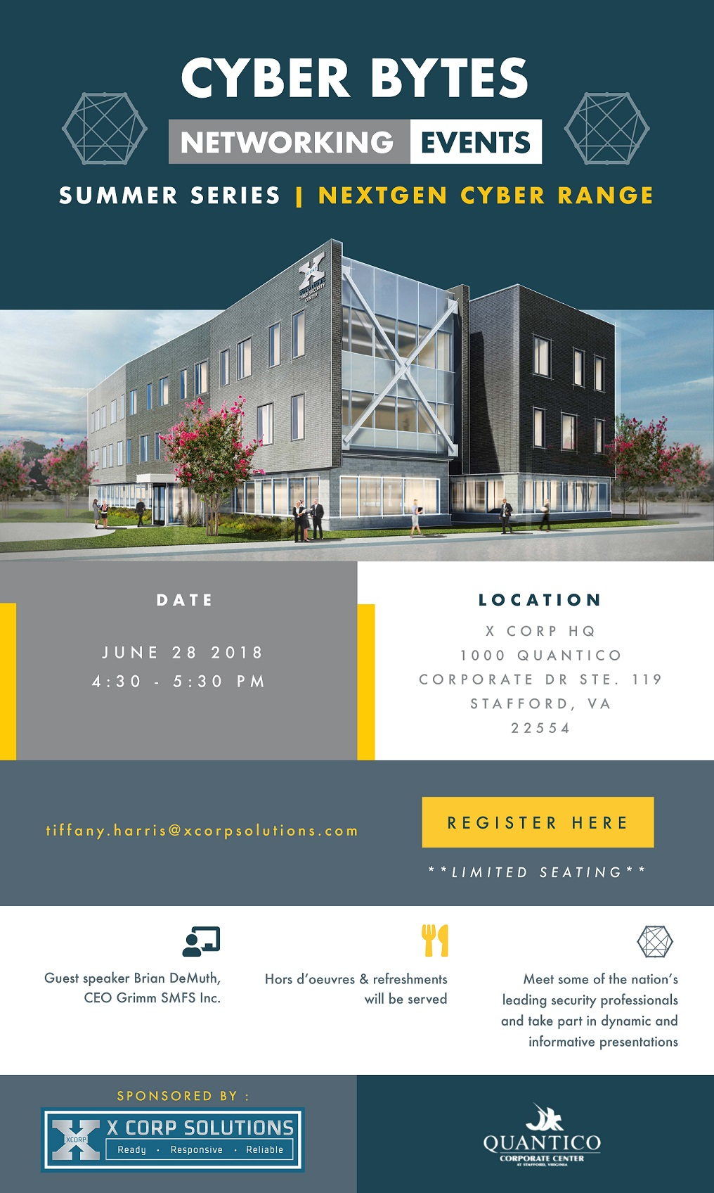 You're Invited! X Corp Solutions' Cybersecurity Networking Event at the Quantico Corporate Center